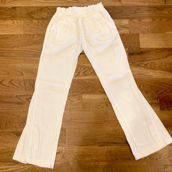 c1924a04c9 Roxy white linen beach pants size Medium. M_5cad19c09d3b78a33516473b